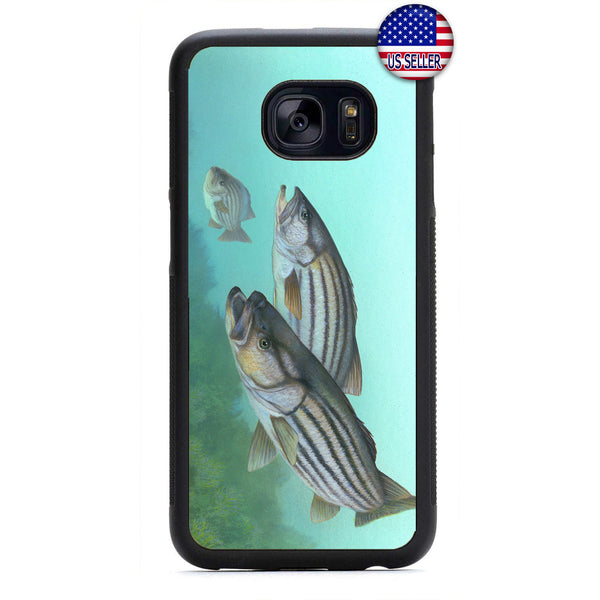 Bass Fish Love Fishing Rubber Case Cover For Samsung Galaxy