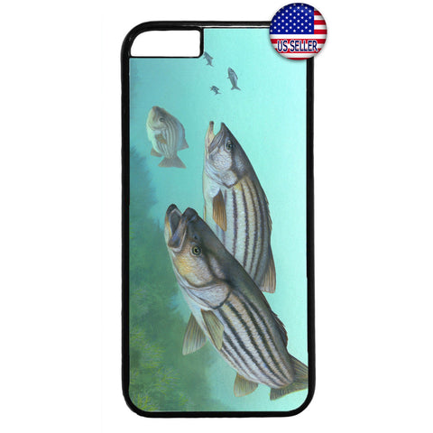 Bass Fish Love Fishing Rubber Case Cover For Iphone