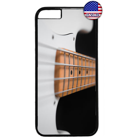 Pearl White Bass Guitar Rubber Case Cover For Iphone