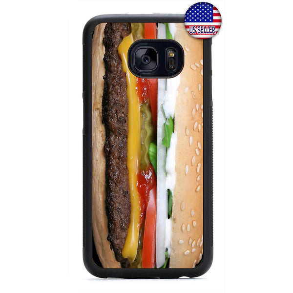 Funny Cheeseburger Food Rubber Case Cover For Samsung Galaxy Note