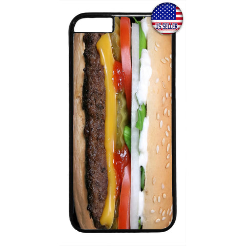 Funny Cheeseburger Food Rubber Case Cover For Iphone
