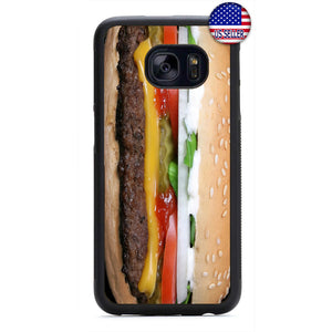 Funny Cheeseburger Food Rubber Case Cover For Samsung Galaxy