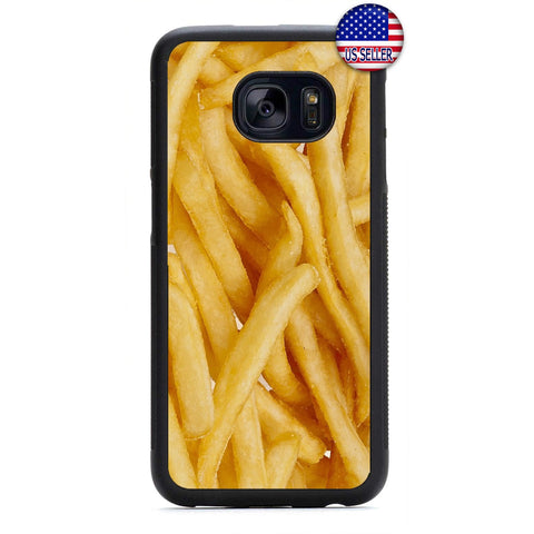 Funny French Fries Food Rubber Case Cover For Samsung Galaxy