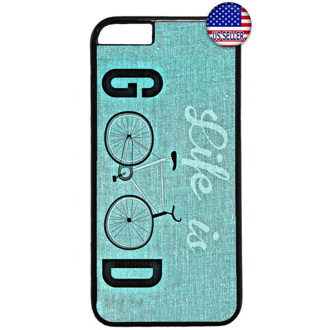 Life Is Good Bicycle Rubber Case Cover For Iphone