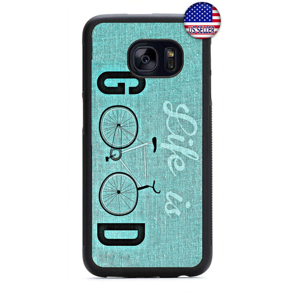 Life Is Good Bicycle Rubber Case Cover For Samsung Galaxy
