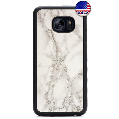 Pearl White Marble Granite Rubber Case Cover For Samsung Galaxy