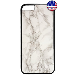 Pearl White Marble Granite Rubber Case Cover For Iphone