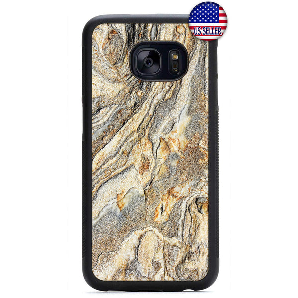 Marble Stone Granite Rubber Case Cover For Samsung Galaxy