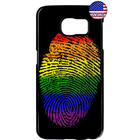 LGBT Gay Flag Finger Art Homosexual Rubber Case Cover For Samsung Galaxy