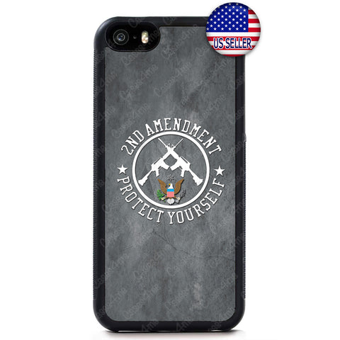 Protect Yourself 2nd Amendment Rubber Case Cover iPhone 8 8 Plus X 7 6 5