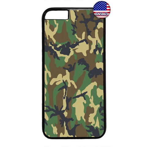 Camouflage Army Pattern Rubber Case Cover For Iphone
