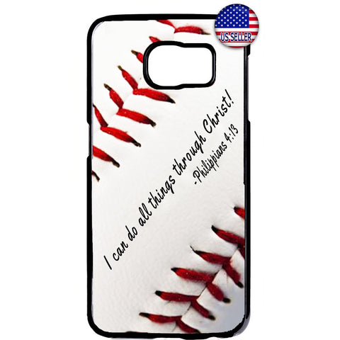 Baseball Christian Bible Verse Rubber Case Cover For Samsung Galaxy