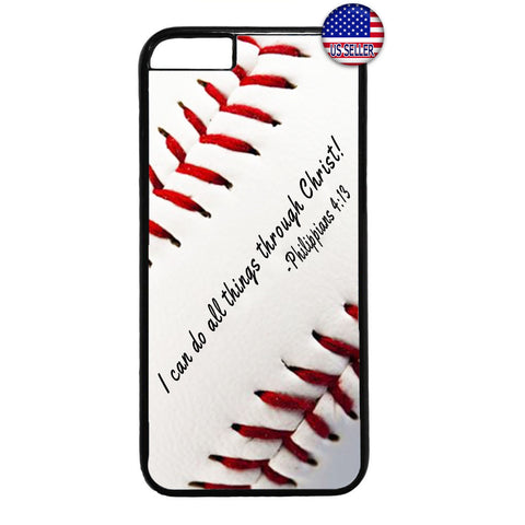Baseball Christian Bible Verse Rubber Case Cover For Iphone