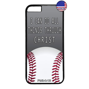 Christian Bible Verse Baseball Rubber Case Cover For Iphone