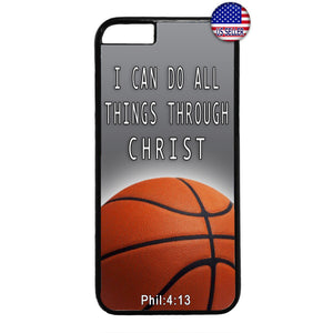 Basketball Christian Bible Verse Rubber Case Cover For Iphone