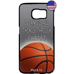 Basketball Christian Bible Verse Rubber Case Cover For Samsung Galaxy