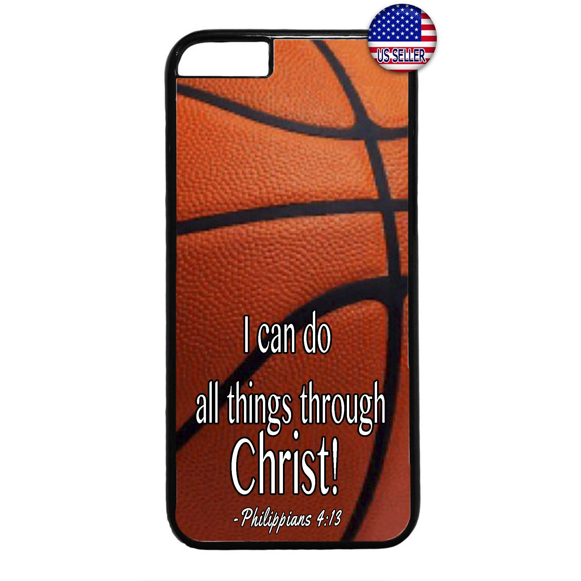 Christian Bible Verse Basketball Rubber Case Cover For Iphone