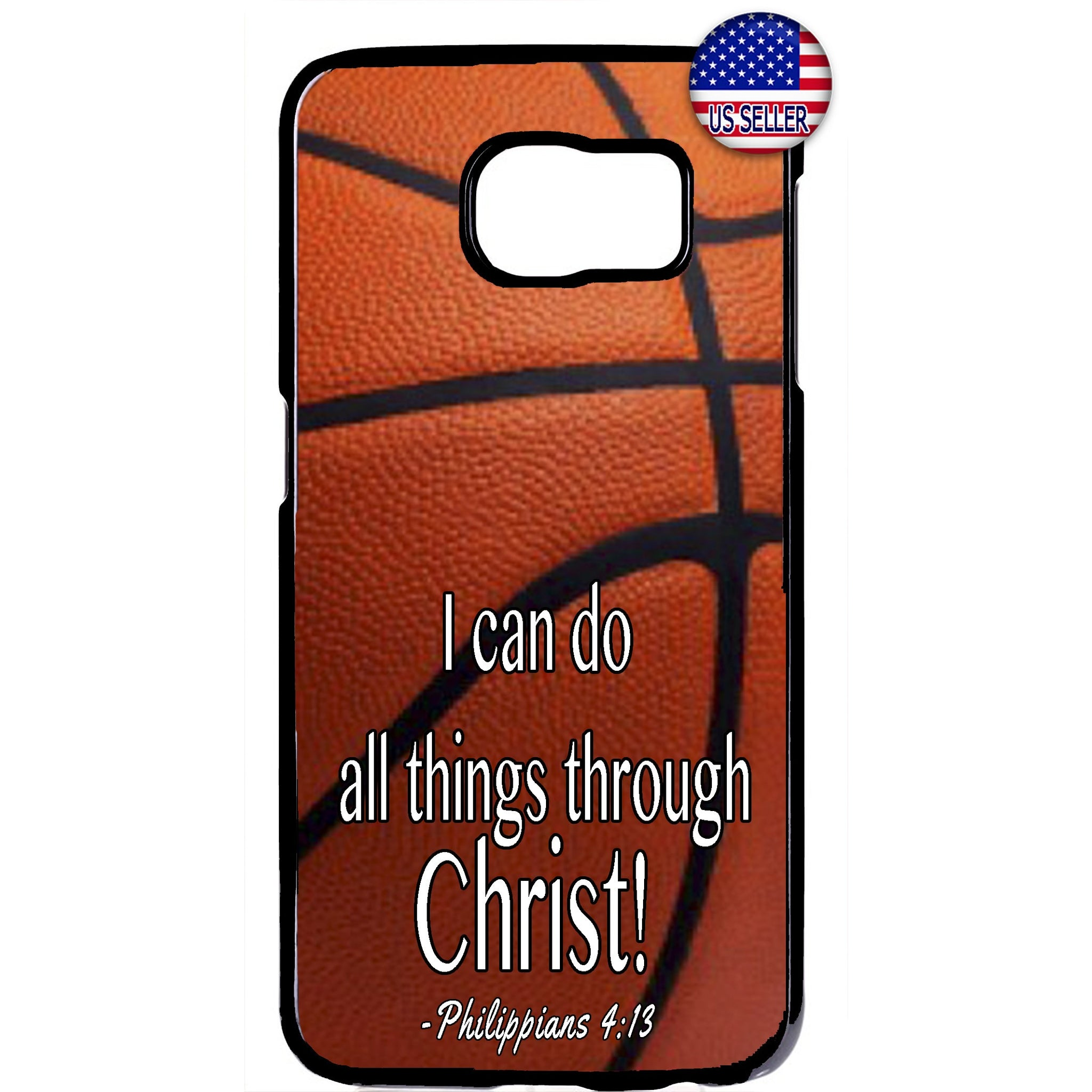 Christian Bible Verse Basketball Rubber Case Cover For Samsung Galaxy