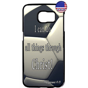Soccer Ball Christian Bible Verse Rubber Case Cover For Samsung Galaxy Note