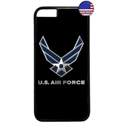 US Air Force Logo Black United States Rubber Case Cover For Iphone