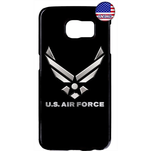 US Air Force Logo Black United States Rubber Case Cover For Samsung Galaxy
