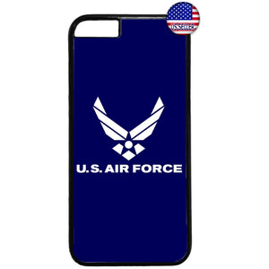 Blue US Air Force Logo United States Rubber Case Cover For Iphone