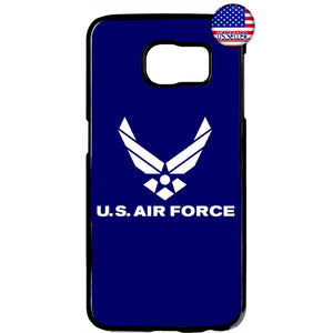 Blue US Air Force Logo United States Rubber Case Cover For Samsung Galaxy