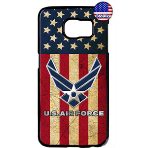 USA Flag US Air Force Logo United States Rubber Case Cover For Samsung Galaxy