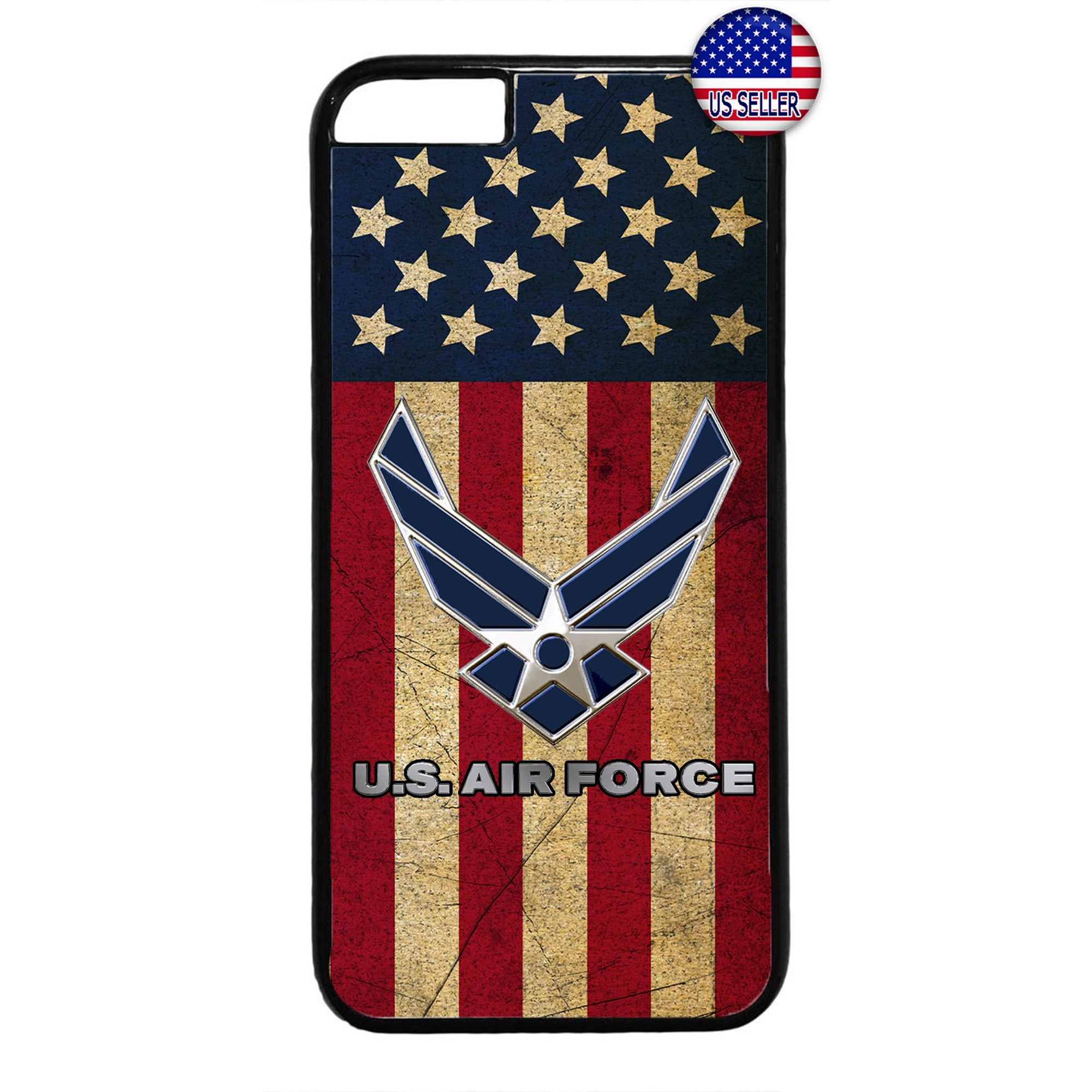 USA Flag US Air Force Logo United States Rubber Case Cover For Iphone