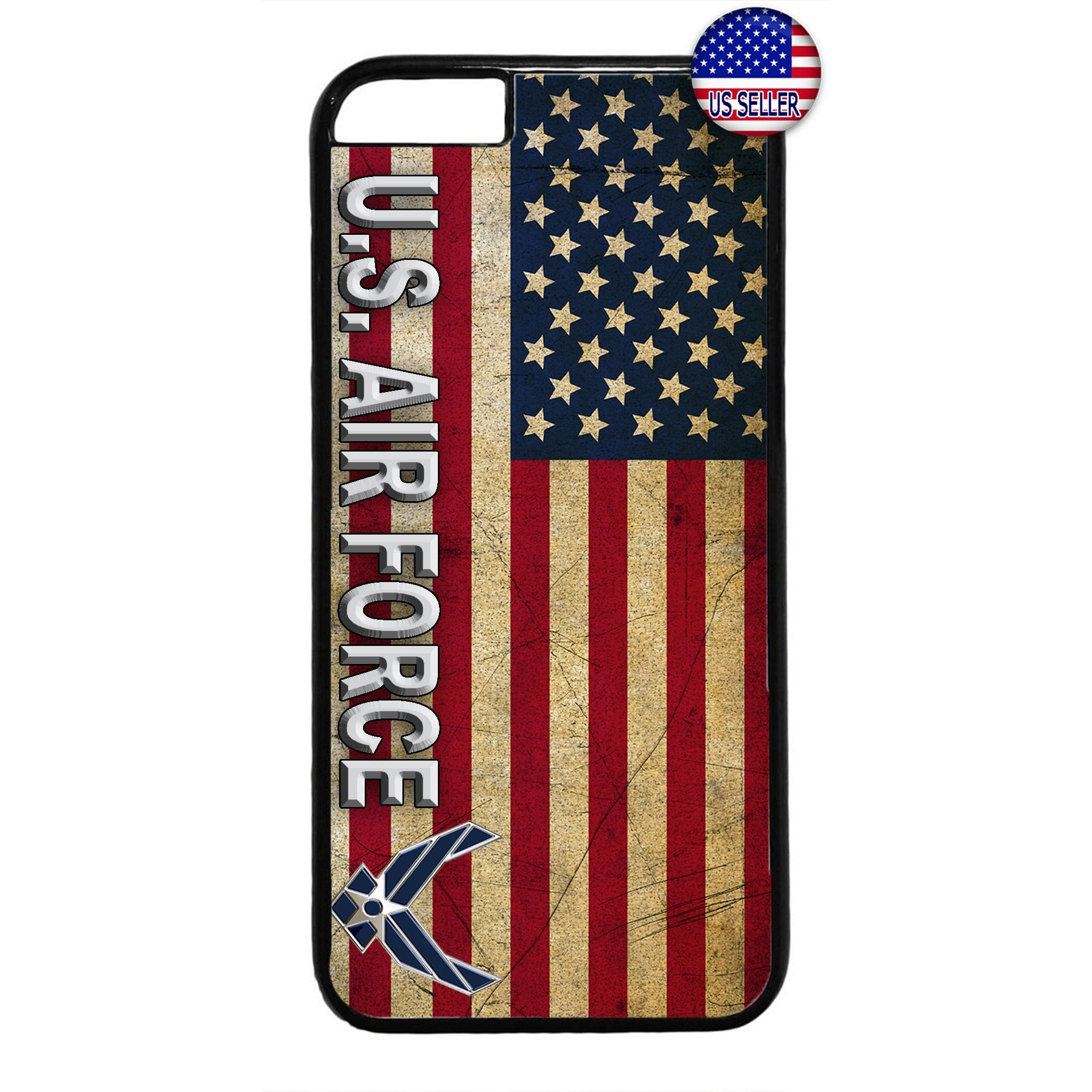 US Air Force USA Flag Logo United States Rubber Case Cover For Iphone