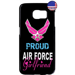 hot sale online 14ff8 c8bc8 Proud Air Force Girlfriend United States Rubber Case Cover For Samsung  Galaxy