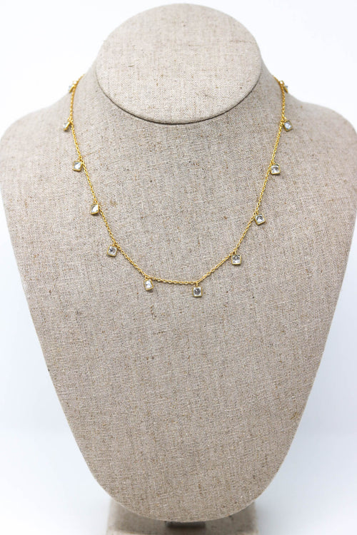 Gold Chain with CZ