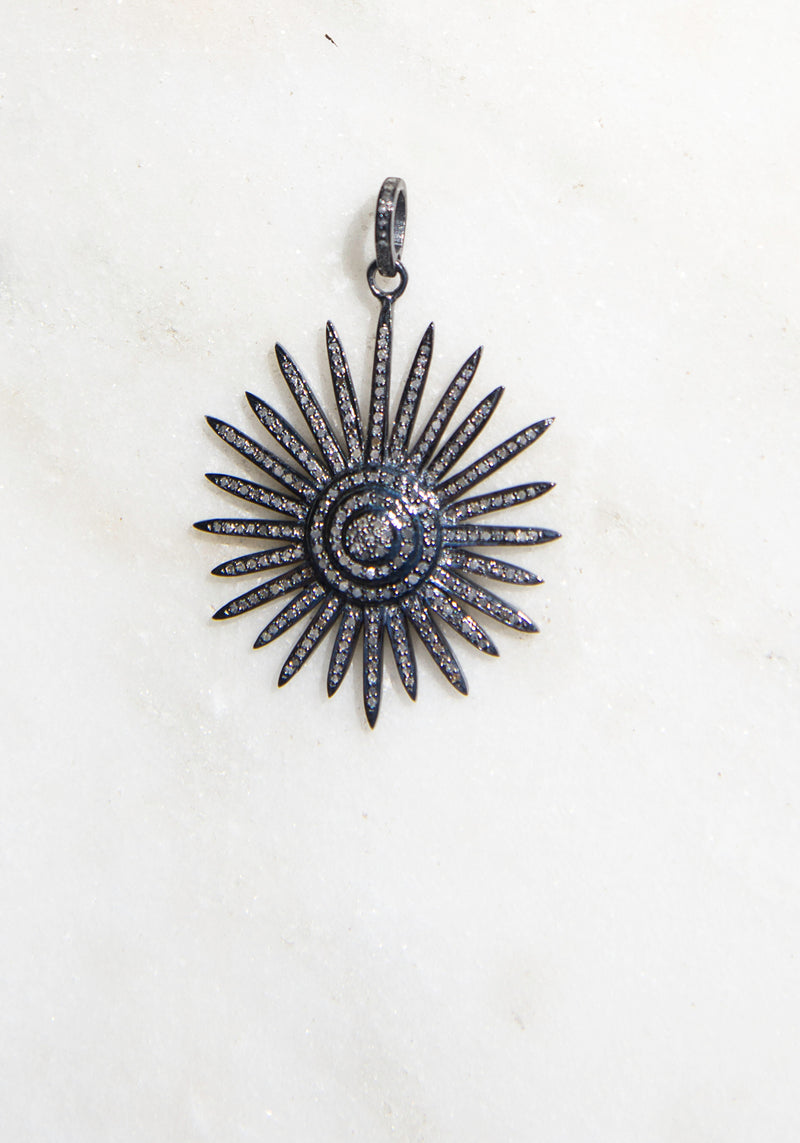 Sophisticated Starburst Pave Pendant