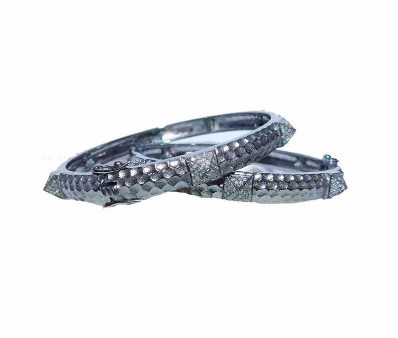 Hammered Diamond Pave Bracelet