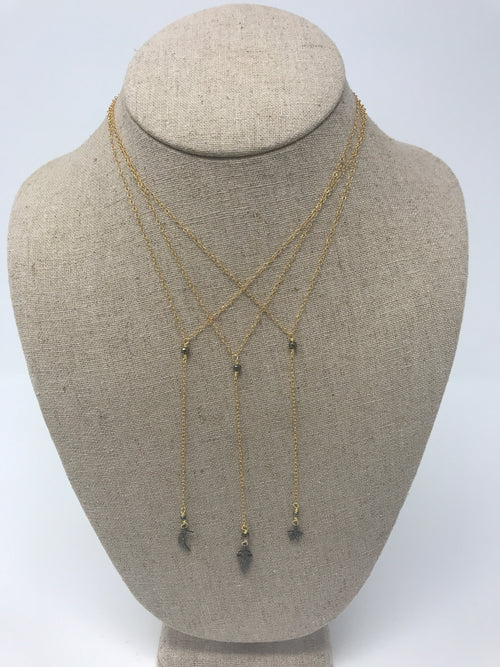 Diamond Pave Lariat Necklace
