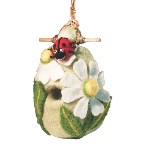 Felt Birdhouse - Ladybug Handmade and Fair Trade