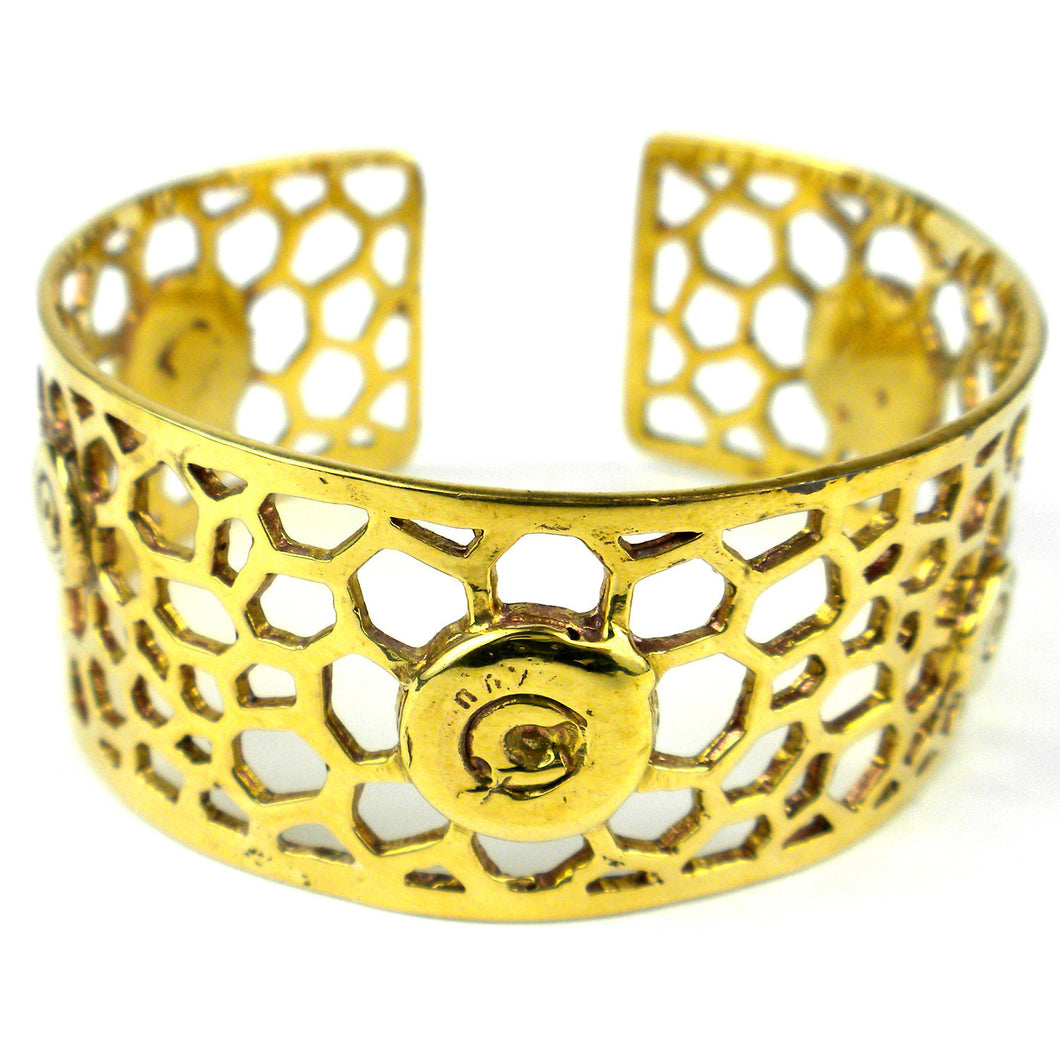 Bomb Casing Beehive Cuff - Craftworks Cambodia