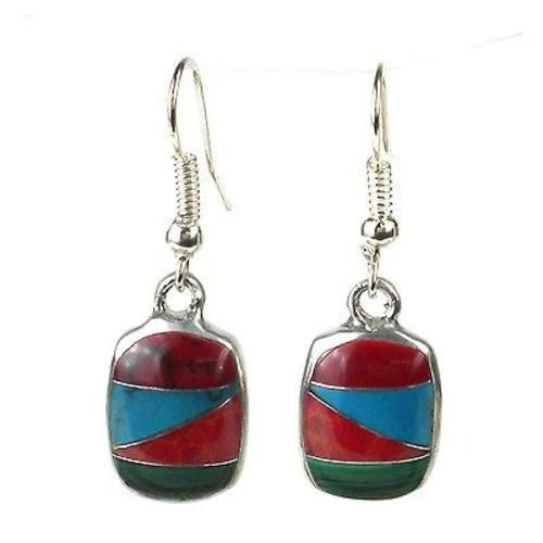 Diagonal Stone Drop Earrings Handmade and Fair Trade