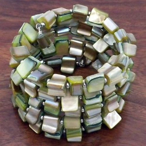 Mother of Pearl Bracelet Handmade and Fair Trade