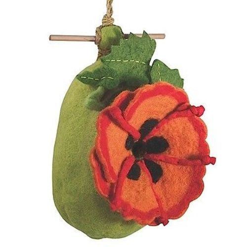 Felt Birdhouse - Poppy Handmade and Fair Trade