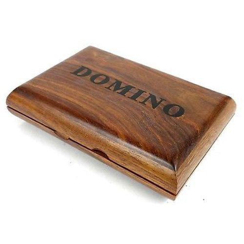 Handcrafted Sheesham Wood Domino Set Handmade and Fair Trade