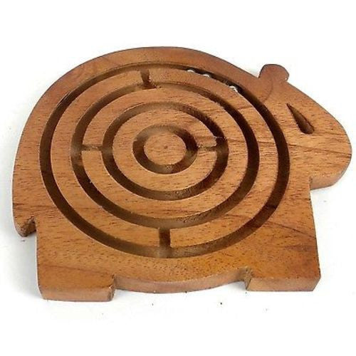 Handcrafted Sheesham Wood Elephant Maze Handmade and Fair Trade
