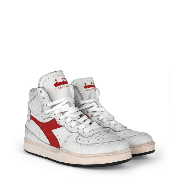 Diadora Heritage MI_BASKET_USED_C7114_BIANCO-ROSSO Sneakers