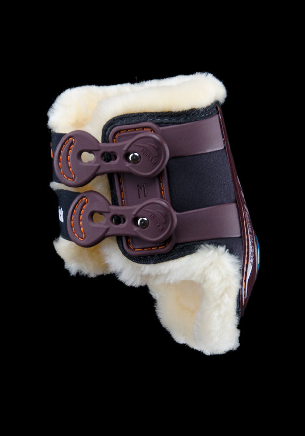 eShock Rear with Lamb Wool brushing boots, Show Jumping Boots, eQuick - Laura's Tack Room