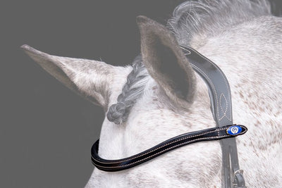 U-Shaped White Stitching Browband, Browband, Ps of Sweden - Laura's Tack Room
