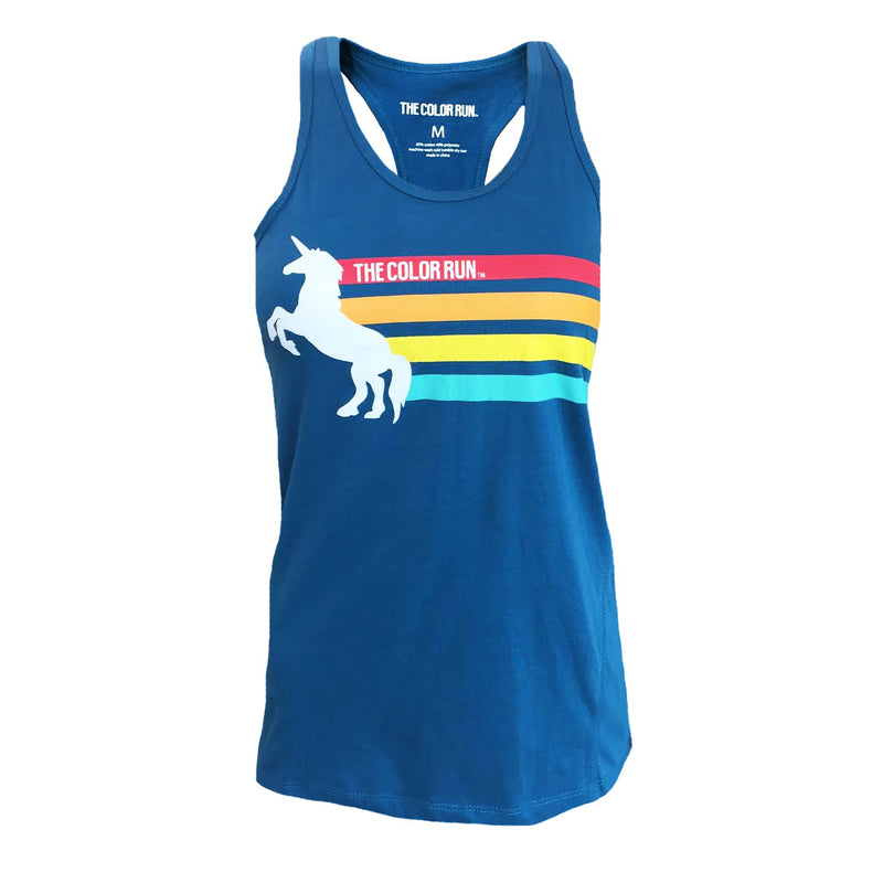 Blue Unicorn Stripe Tank