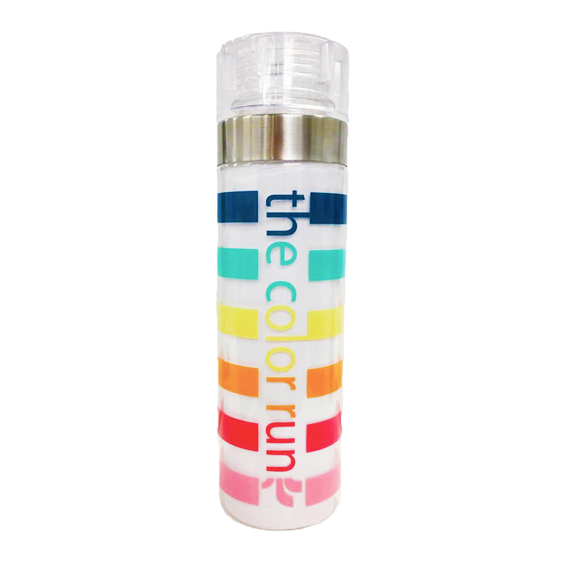 TCR Rainbow Stripe Water Bottle