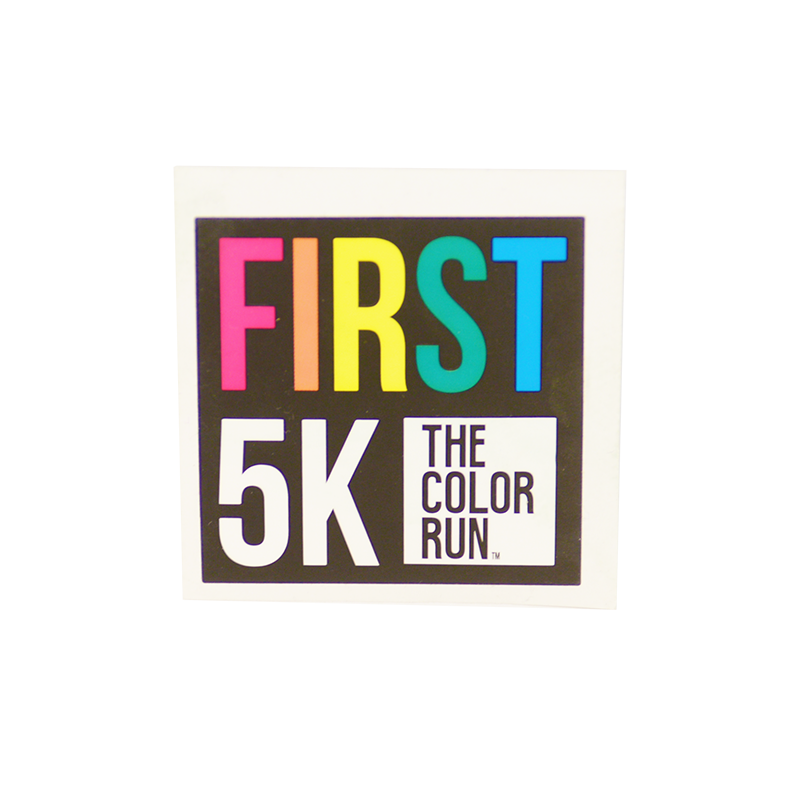 First 5k Die Cut Sticker