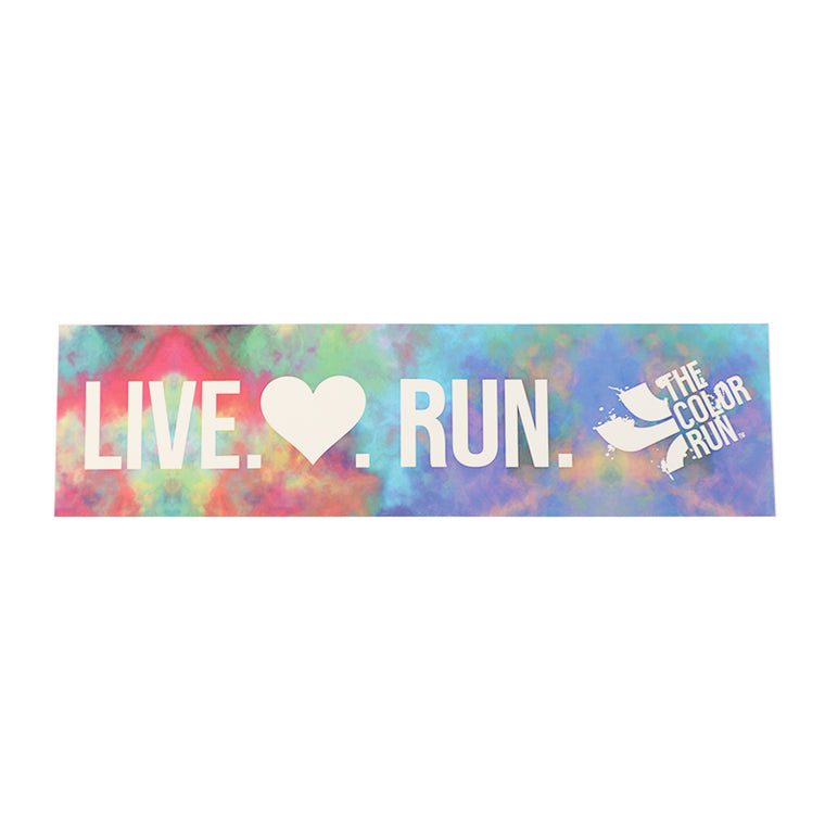 Live Heart Run Bumper Sticker
