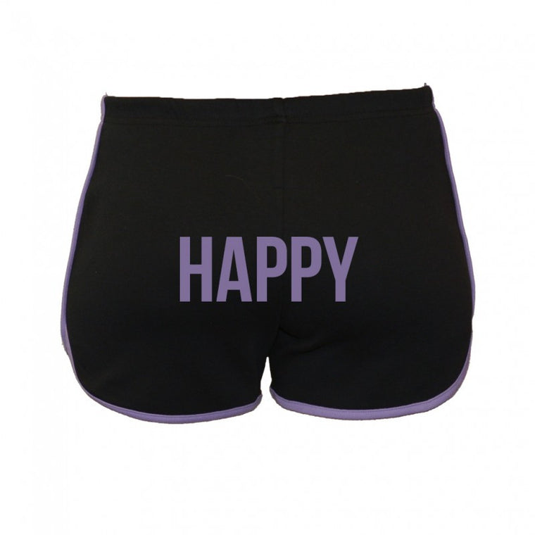 Black Word Running Shorts